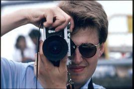 Stieg Larsson i Hong Kong pŒ uppdrag av nyhetsbyrŒn TT och resemagsinet Vagabond 1987.