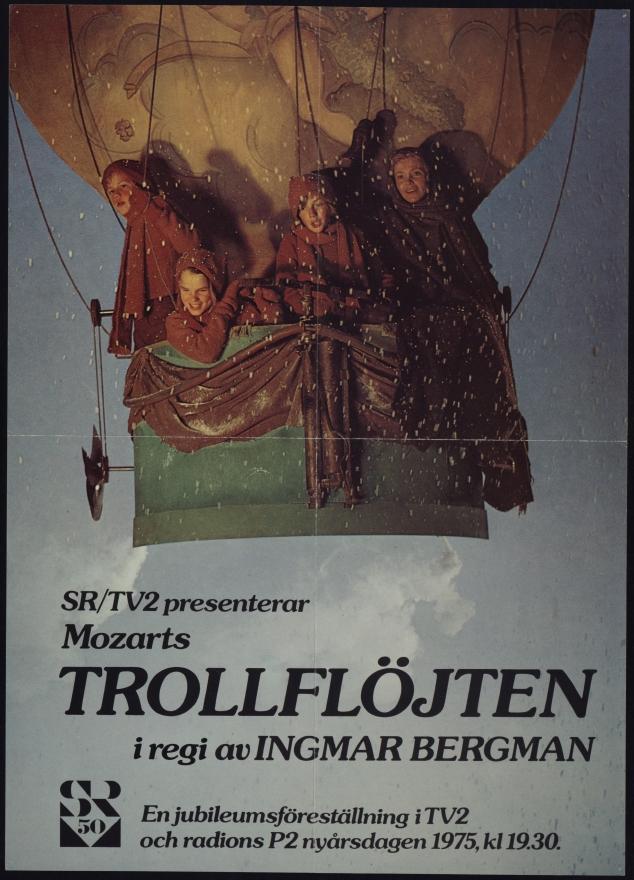 The magic flute Ingmar Bergman vintage movie poster print