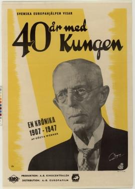 40 år med kungen : En krönika 1907-1947