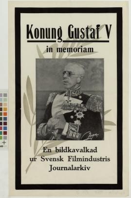 Konung Gustaf V in memoriam
